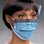 KC300 Fluidshield Procedure Earloop Masks with SplashGuard Wrap-Around Visor - Blue