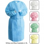 Value Brand Isolation Gowns SMS Material Regular Size Blue