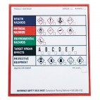 GHS Chemical Product Labels 4 X 4 100pk