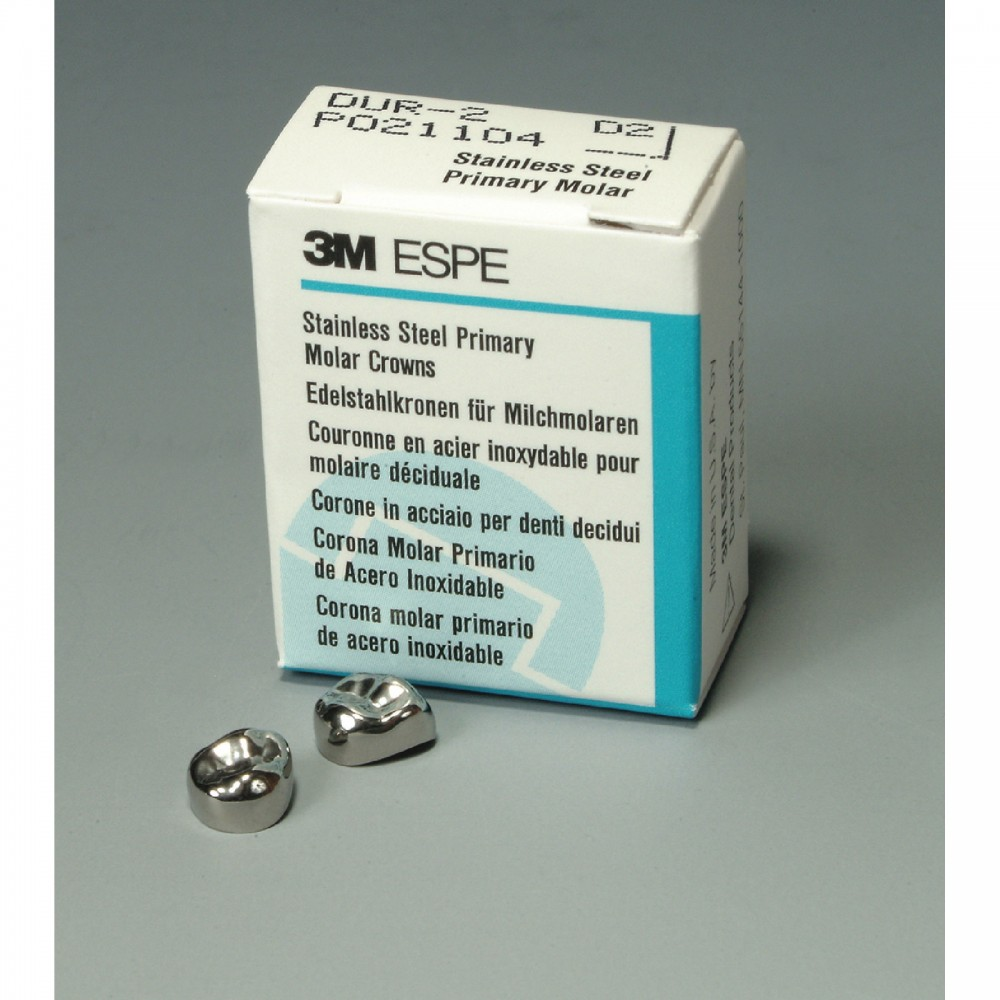 3M™ ESPE™ Stainless Steel First Primary Molar Replacement Crown ...