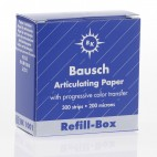 BK-1001 Bausch .0008 Blue Straight - Articulating Paper