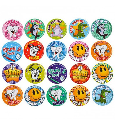Dental Roll Stickers Assorted