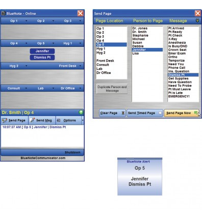 BlueNote Communicator Paging Software for Dental Practices